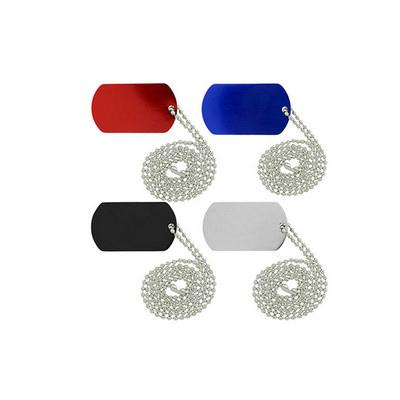 Dog Tag Necklace Indent Laser Engraved