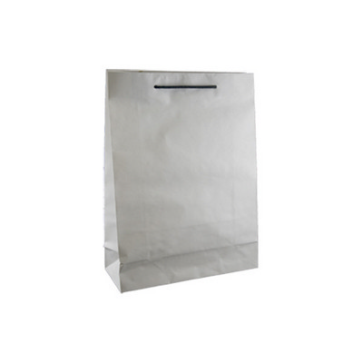 Small Deluxe White Kraft Paper Bag Printed