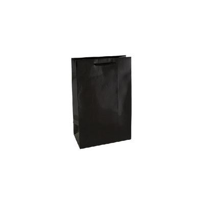 Small Black Gloss Laminated Paper Bag