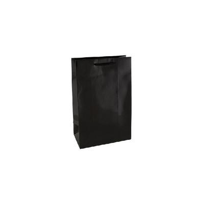 Small Black Gloss Laminated Paper Bag Printed