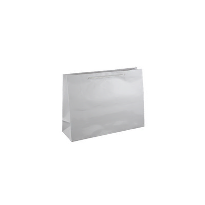 Small Boutique White Gloss Laminated Paper Bag