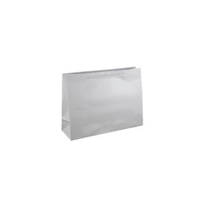 Small Boutique White Gloss Laminated Paper Bag Pri