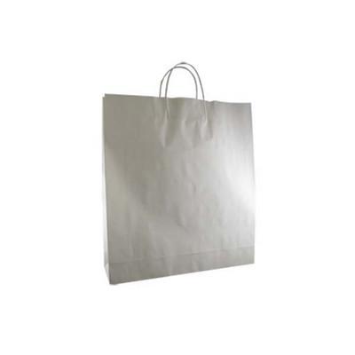 Large Standard White Kraft Paper Bag Printed