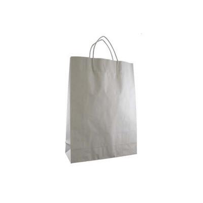 Midi Standard White Kraft Paper Bag Printed