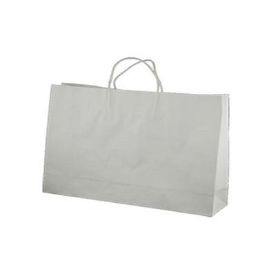 Midi Boutique Standard White Kraft Paper Bag