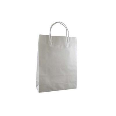 Small Standard White Kraft Paper Bag Printed
