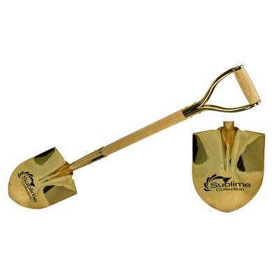 Gold Ceremonial Shovel Etched