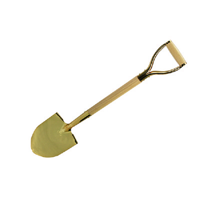 Gold Groundbreaking Ceremonial Shovel with wooden