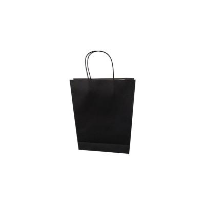 Small Standard Black Kraft Paper Bag Printed