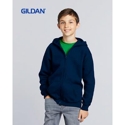 Gildan Heavy Blend Youth Full Zip Hooded Sweatshir