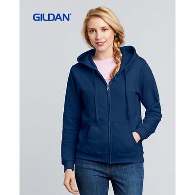 Gildan Heavy Blend Ladies Full Zip Hooded Sweatshi