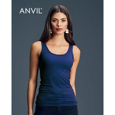 Anvil Womens Stretch Tank Colours