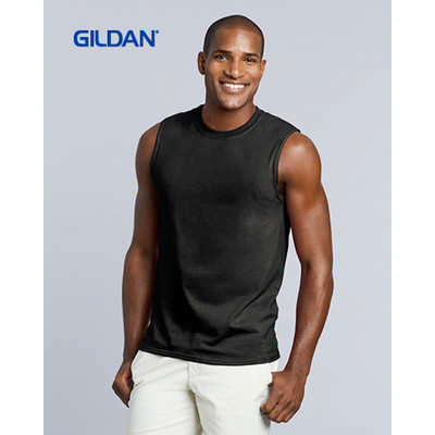 Gildan Ultra Cotton Adult Sleeveless T-Shirt Colou