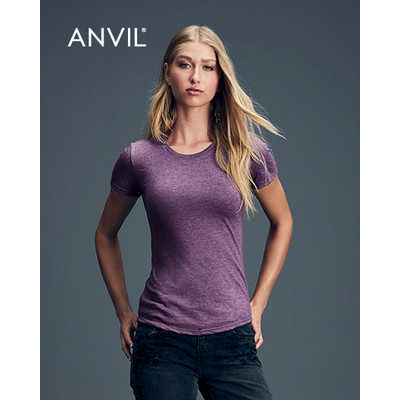 Anvil Womens Tri-Blend Tee Colours