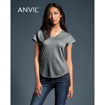 Anvil Womens Tri-Blend V-Neck Tee Colours