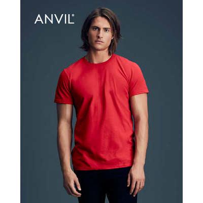 Anvil Adult Black Tee Colours