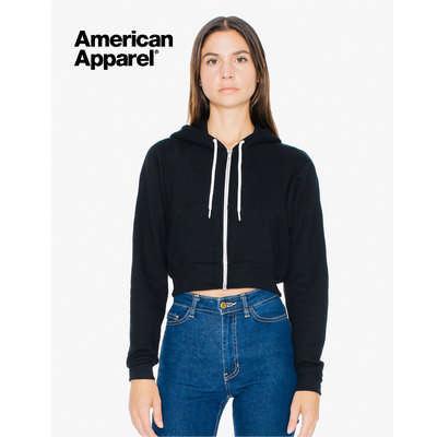 Womens Flex Fleece Cropped Zip Hooded Sweatshirt C