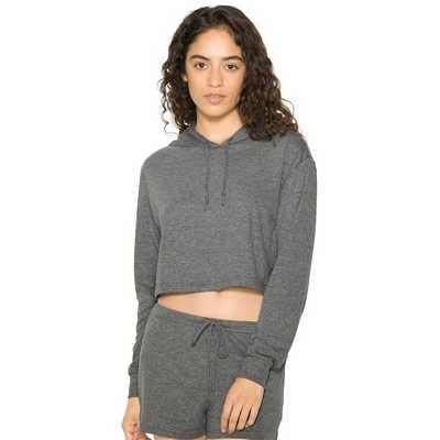 American Apparel Womens Tri-Blend Cropped Hoodie C