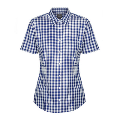 Womens Navy Degraves Royal Oxford Short Sleeve Cas