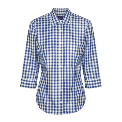 Womens Navy Degraves Royal Oxford 34 Sleeve Shirt