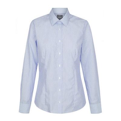 Womens Navy Carson Dobby Stripe Long Sleeve Shirt