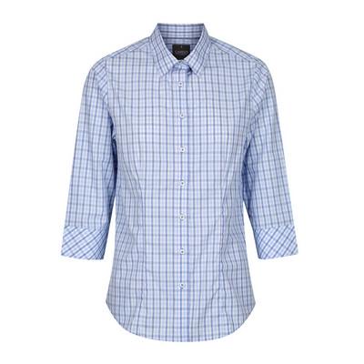 Womens Navy Kensington Tonal Check 34 Sleeve Shirt