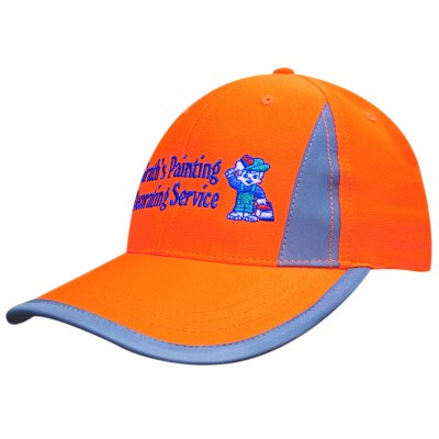 Structured 6 Panel Luminescent Safety Cap with ref