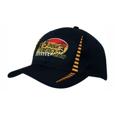 6 Panel Breathable Poly Twill Cap with Embroidered