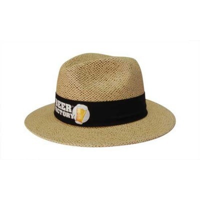 Natural Madrid Style String Straw Hat with materia