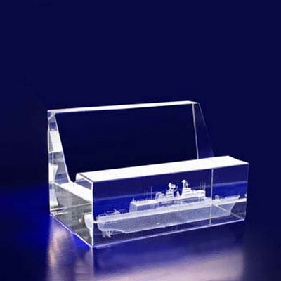 3D Crystal Business Card Holder - (printed with 1 colour(s))  (BC8__IMA3D)