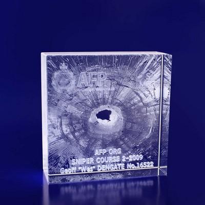 3D Cystal Award - Box