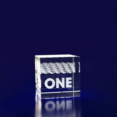 3D Crystal Cube award / gift - (printed with 1 colour(s))  (CB4__IMA3D)