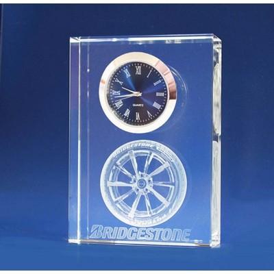 3D Cystal Award - Clock