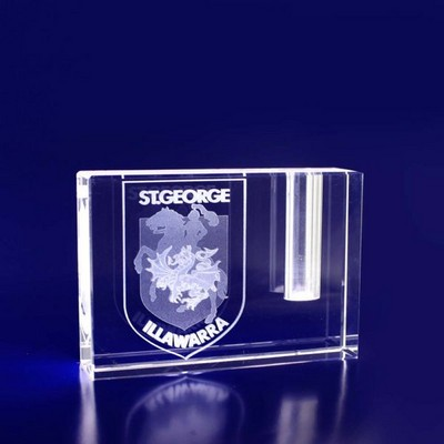 3D Crystal Pen Holder award - (printed with 1 colour(s))  (PEN10__IMA3D)