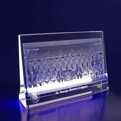 3D Cystal Award - 2D Photo Crystal