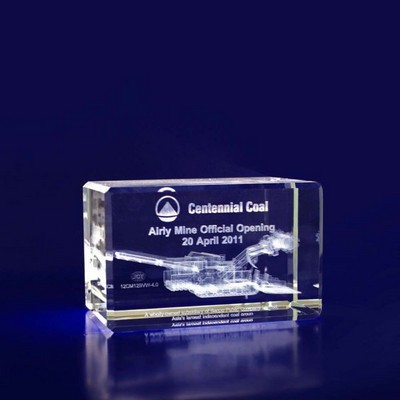 3D Crystal Rectangle award / paperweight - (printed with 1 colour(s))  (R8__IMA3D)