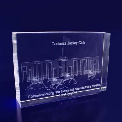 3D Crystal Rectangle Thin award / trophy - (printed with 1 colour(s))  (RT15__IMA3D)