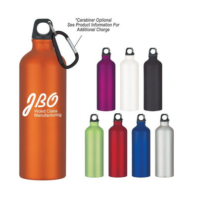 ALUD03 Aluminium Sports Bottle 750ml With Carabine
