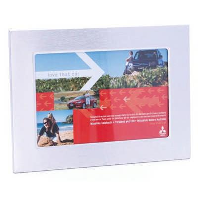 Brushed Aluminium Desk Photo Frame