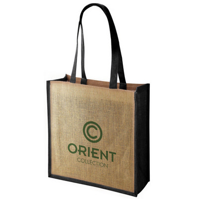 Large Jute Tote Bag With Gussett