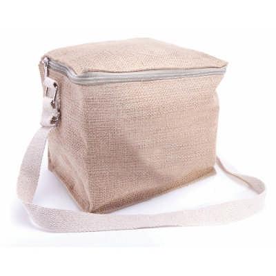 6 Can Jute Cooler Bag