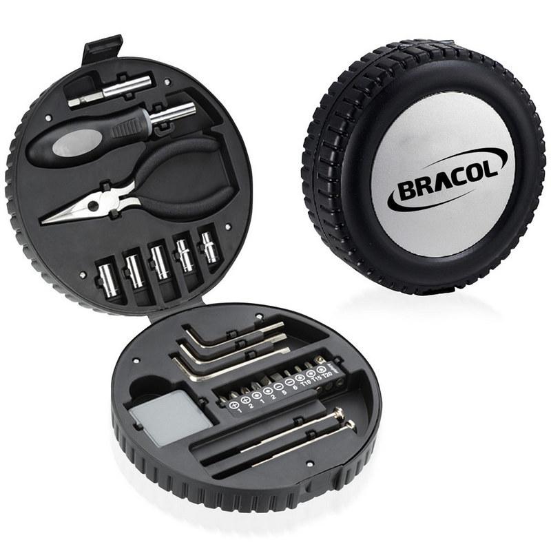 24 Piece Tyre Shaped Tool Kit