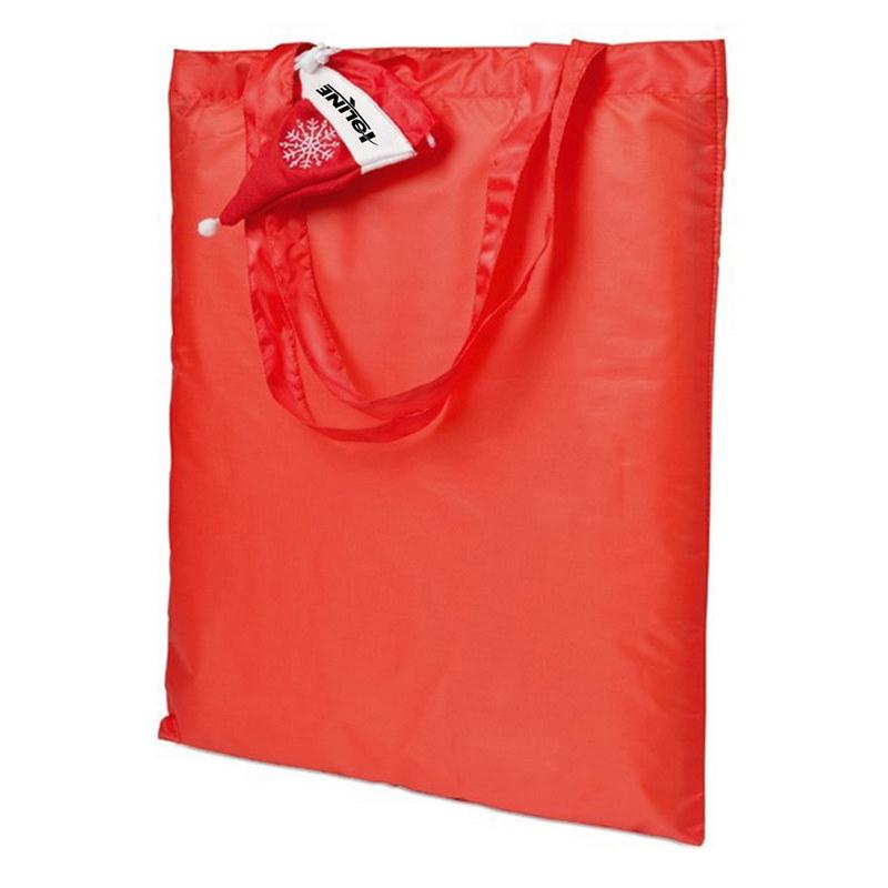 Foldable Shopping Bag In Mini Christmas Hat