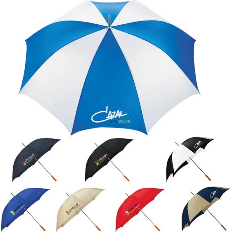 60 Inch Promotional Fiberglass Ribs Golf Umbrella