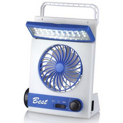 Emergency Solar Fan With Led Light