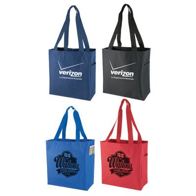 600D Polyester Tote Bag With Side Pocket