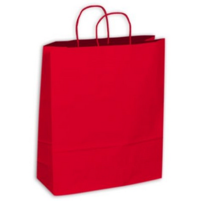 Kraft Paper Bag - Red Extra Large Includes Twisted