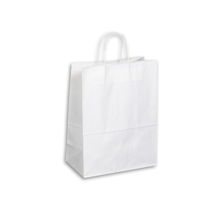 Kraft Paper Bag - White Large Includes Twisted Pap