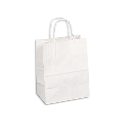 Kraft Paper Bag Medium Includes Twisted Paper Hand