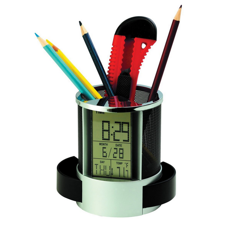PEHB02 Multifunction Clock With Pen Holder
